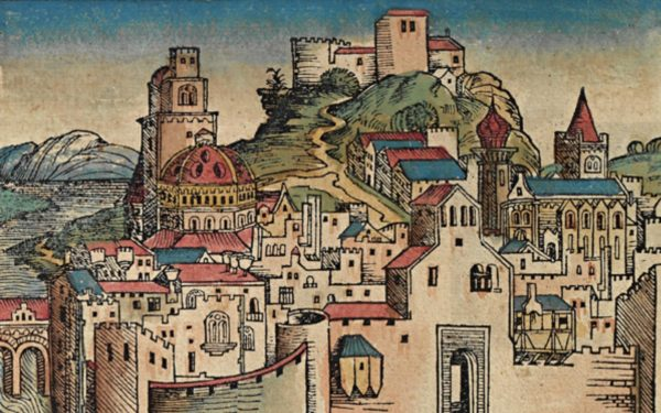 Idealized depiction of Carthage from the 1493 Nuremberg Chronicle, Michel Wolgemut, Wilhelm Pleydenwurff - Self-scanned
