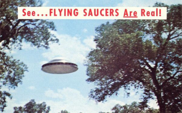 Photograph of a flying saucer