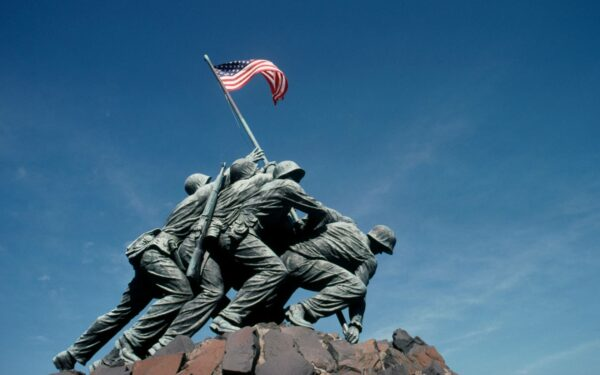 The Marine Corps War Memorial, also known as Iwo Jima Memorial.