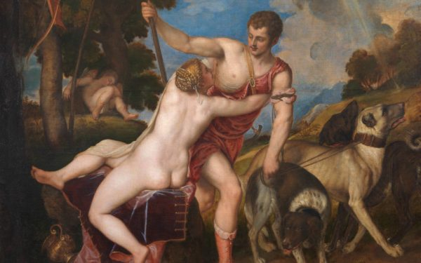 "Venus and Adonis by Titian, Prado, 1554. The ""Prado type"""