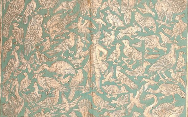 18th-century Brocade paper printed in gold