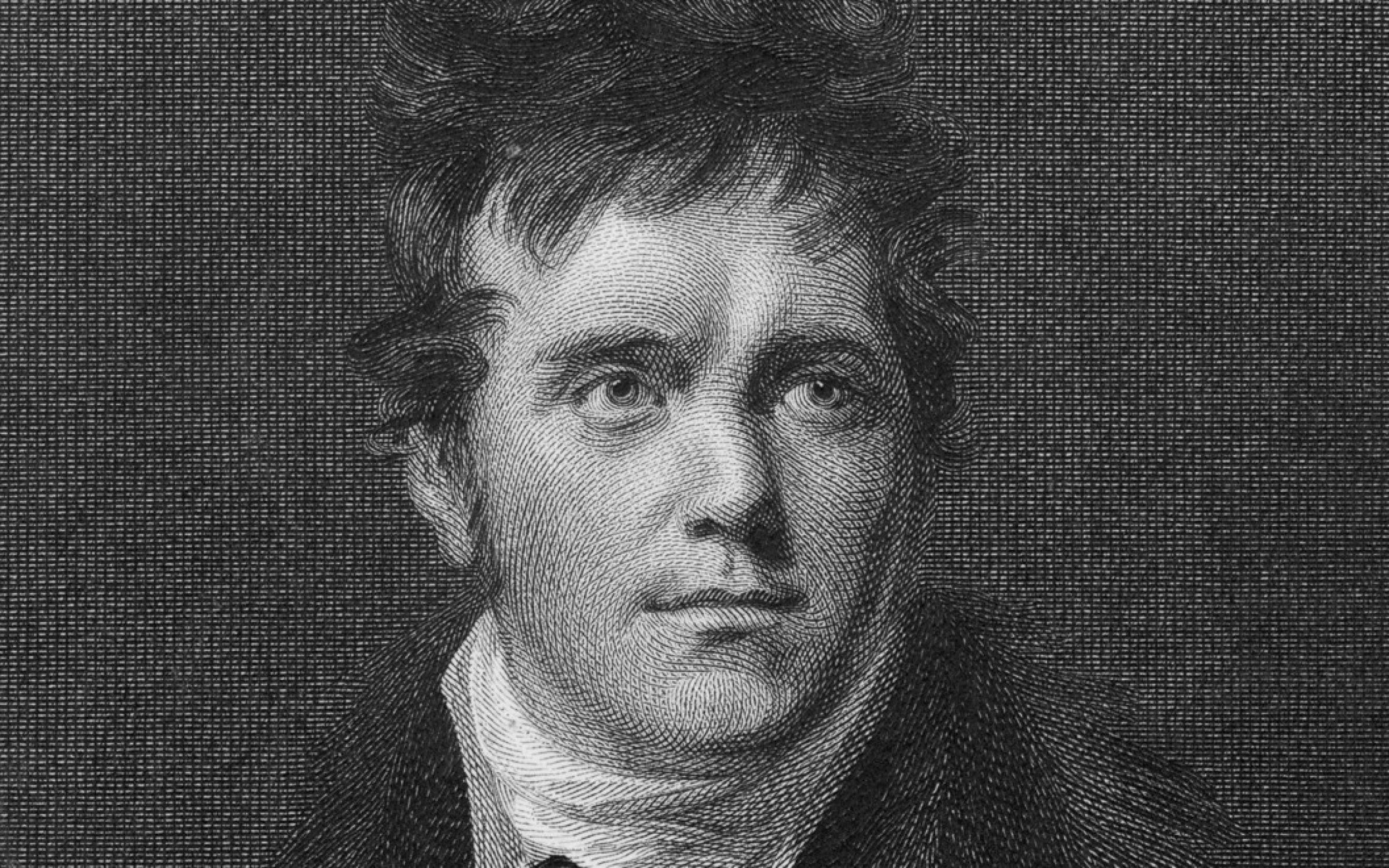 English traveller and mineralogist Edward Daniel Clarke, LLD (1769 - 1822), circa 1800. Engraved by Golding after a painting by John Opie. Credit: Hulton Archive/Getty Images