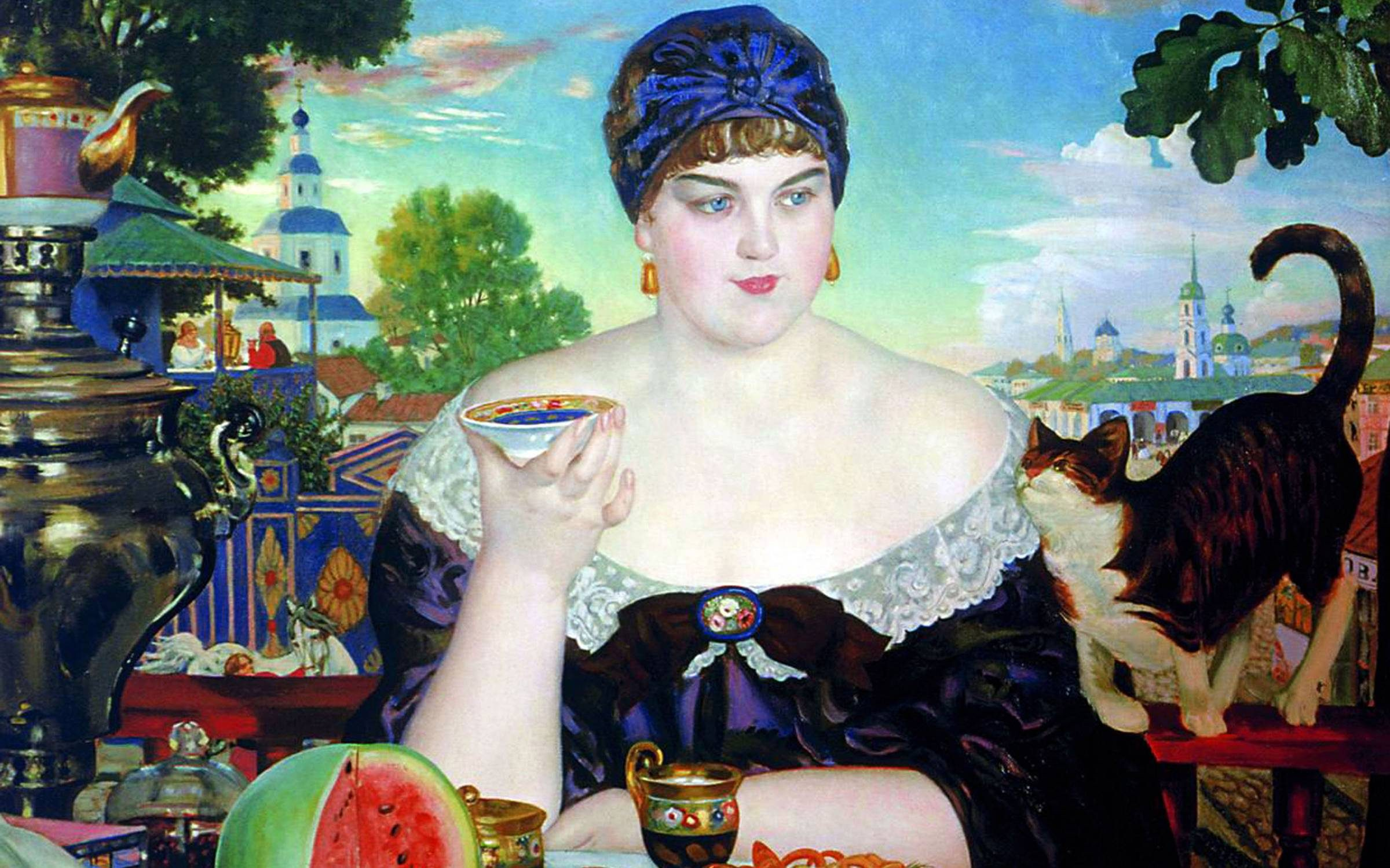 The Merchant's Wife', 1918. Oil on canvas. Boris Kustodiev (1878-1927). Credit: Universal History Archive/Getty Images