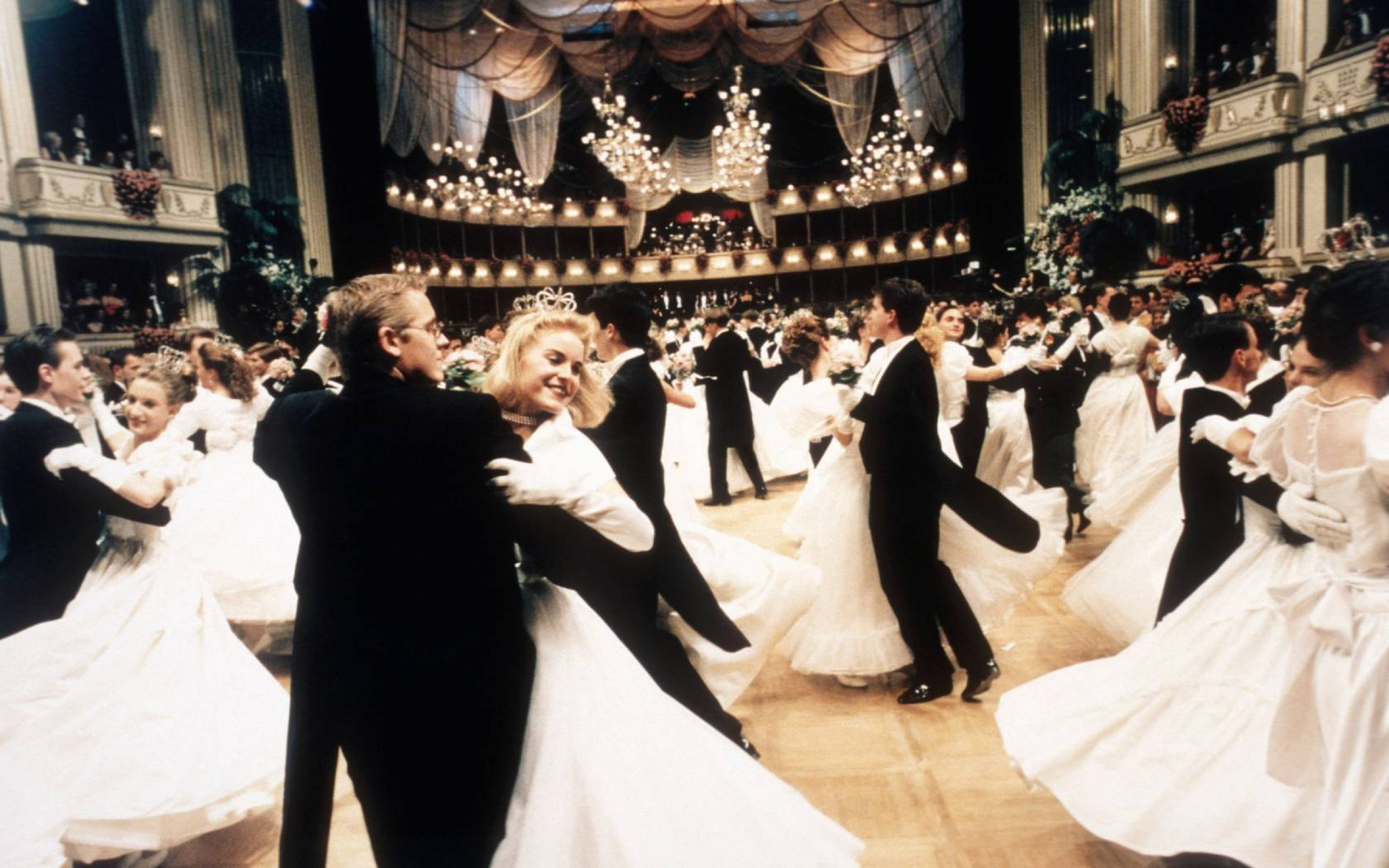 Couples waltz during the 1994 Vienna Opera Ball, an annual event held at the Vienna State Opera in Vienna, Austria. Credit: Reuter Raymond/Sygma via Getty Images