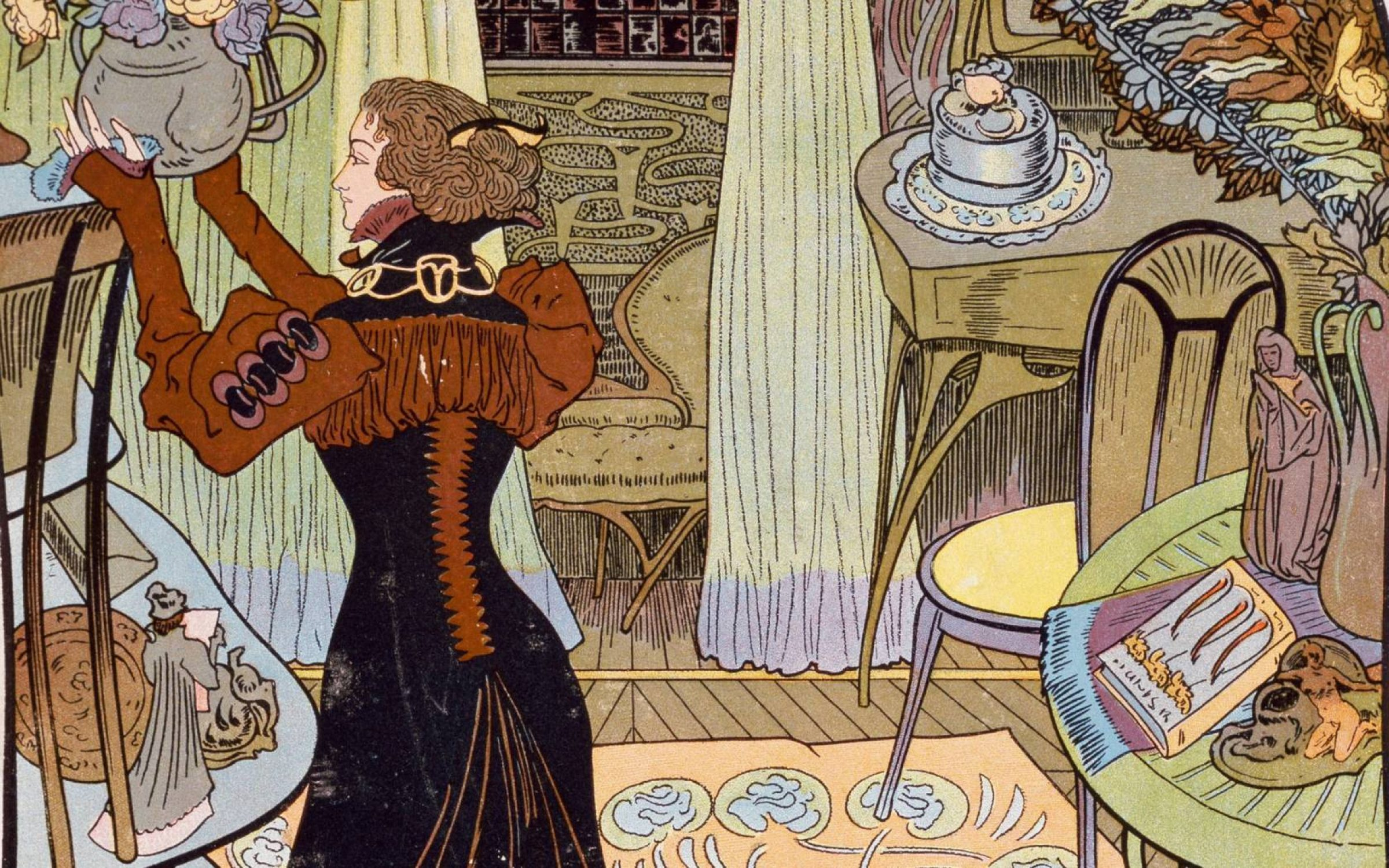 Illustrated edition of In Search of Lost Time, 1913-1927, by Georges de Feure (1868-1928). In Paris, Bibliothèque Des Arts Decoratifs. Credit: DeAgostini/Getty Images