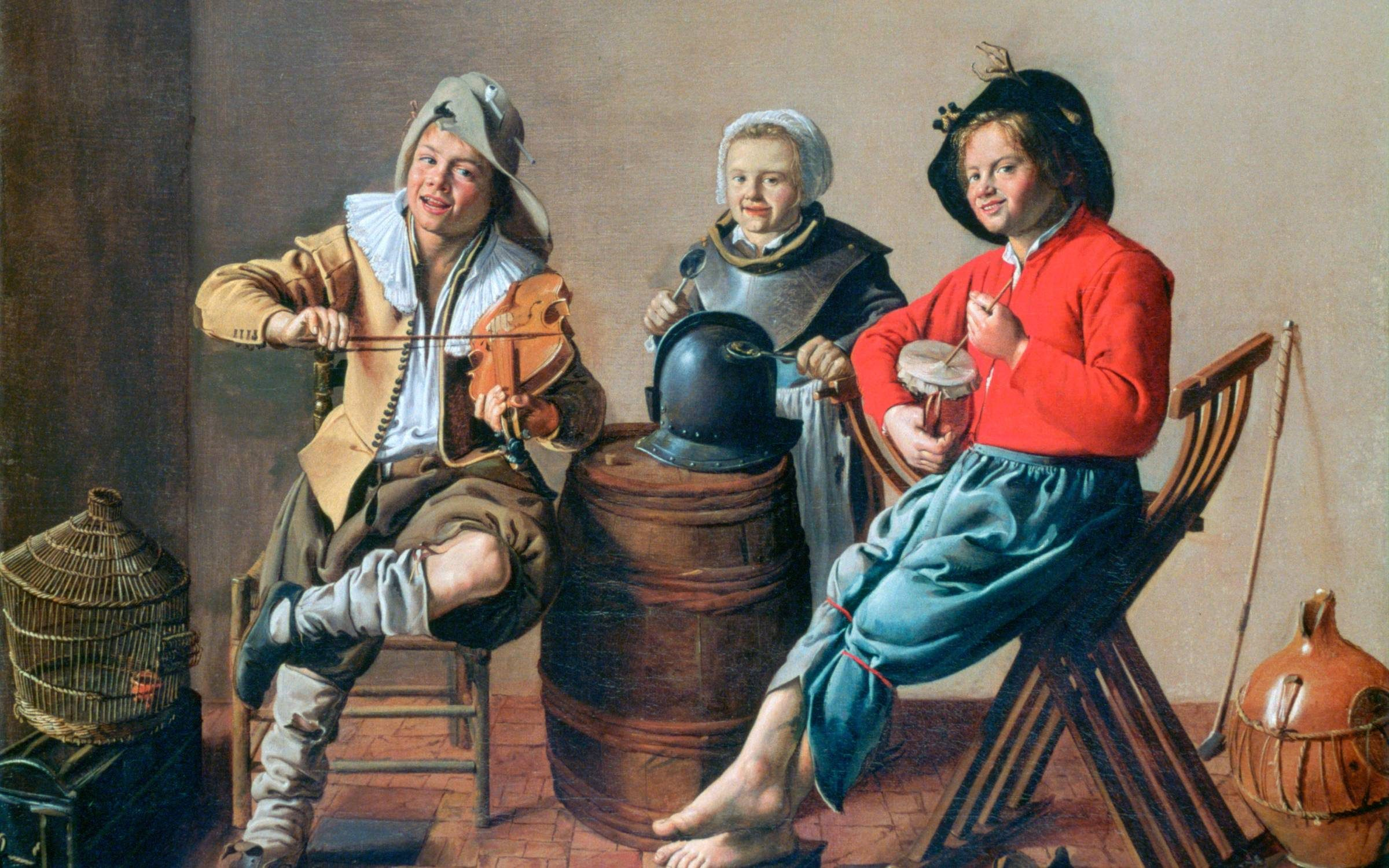 'Two Boys and a Girl making Music', 1629. Jan Miense Molenaer. Credit: Art Media/Print Collector/Getty Images