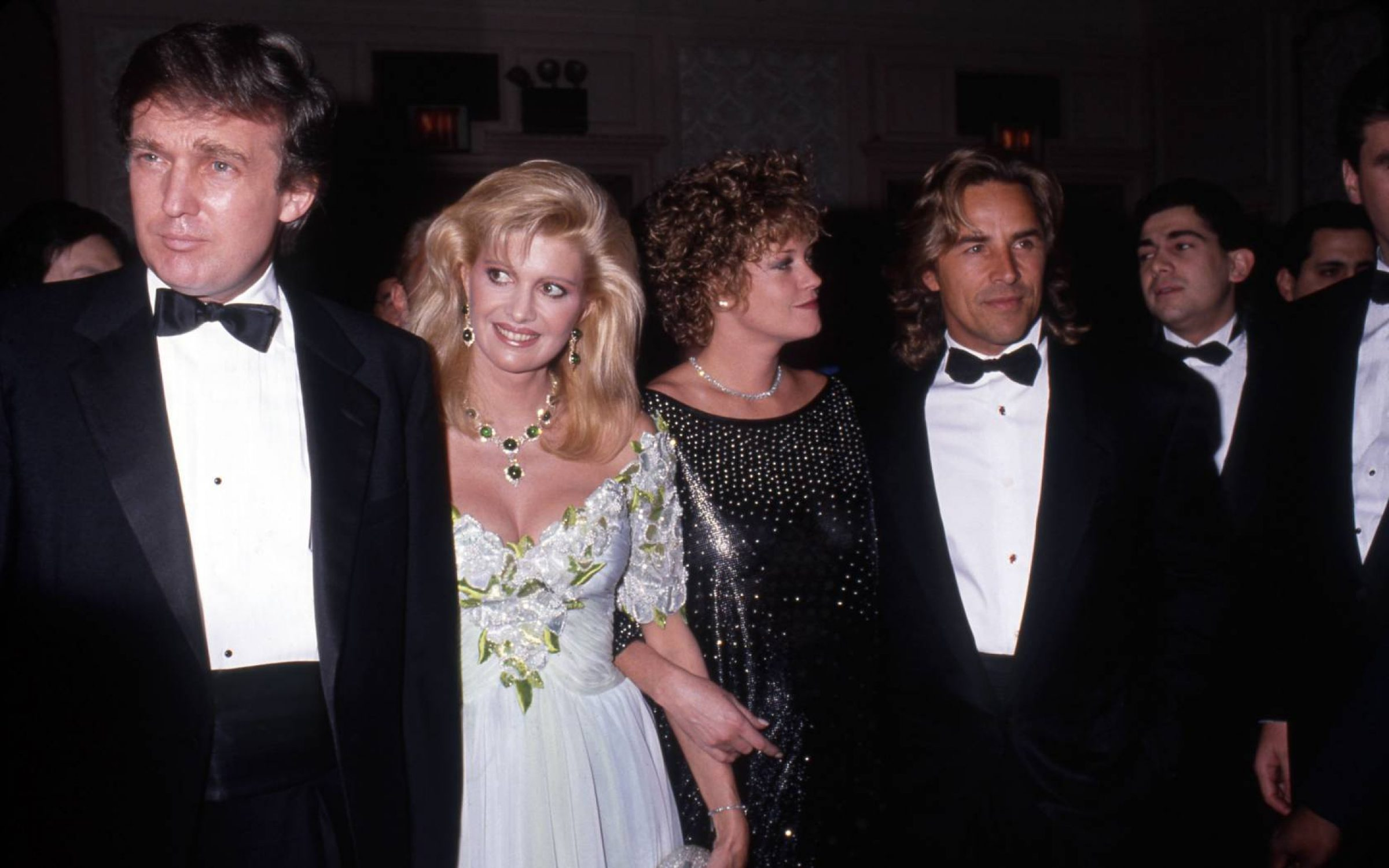 Celebrity Donald Trump at a party in New York, 1989. Credit: Vinnie Zuffante / Getty Images.