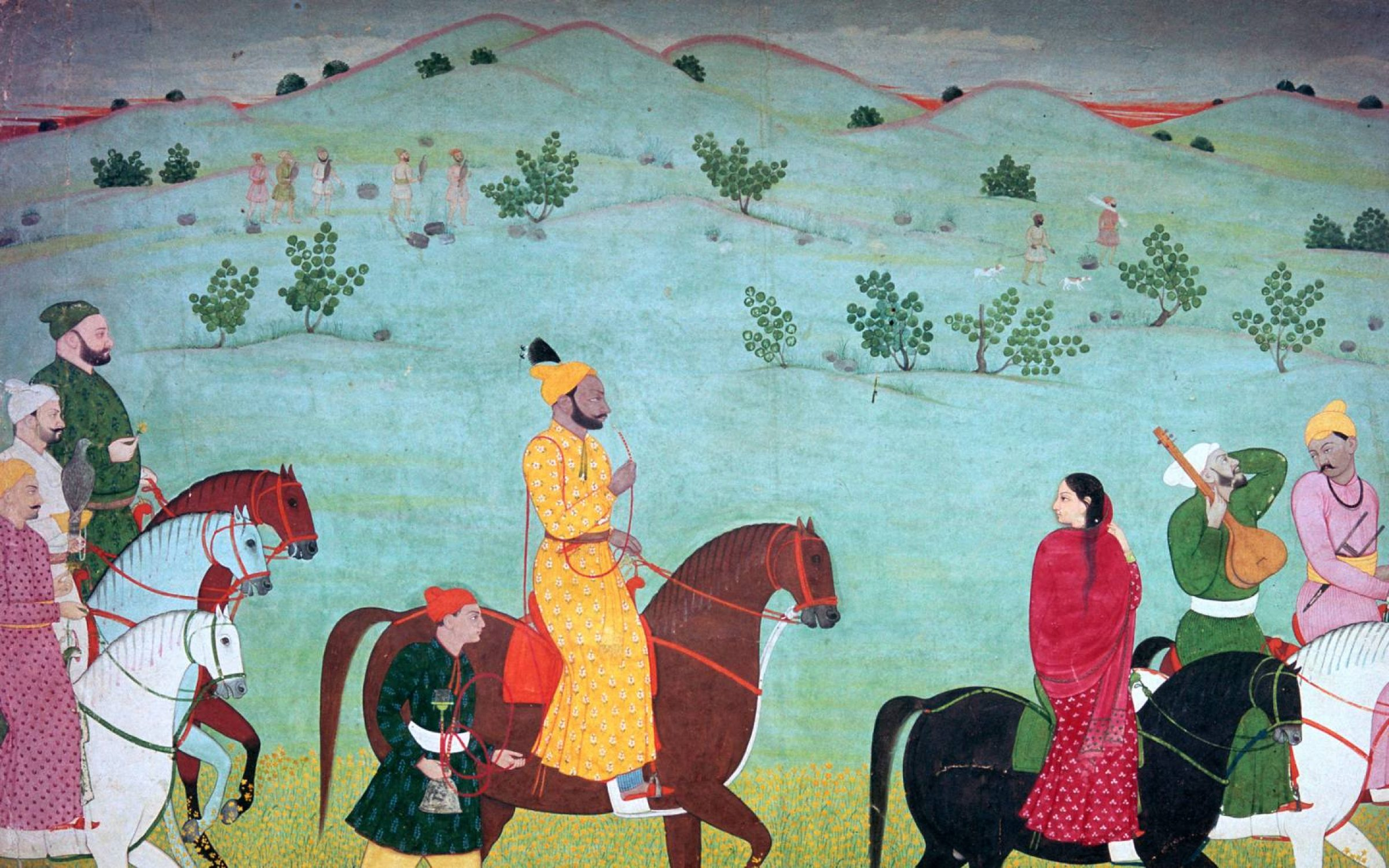 Painting of Mian Mukund Dev of Jasrota, 18th century. Credit: CM Dixon/Print Collector/Getty Images