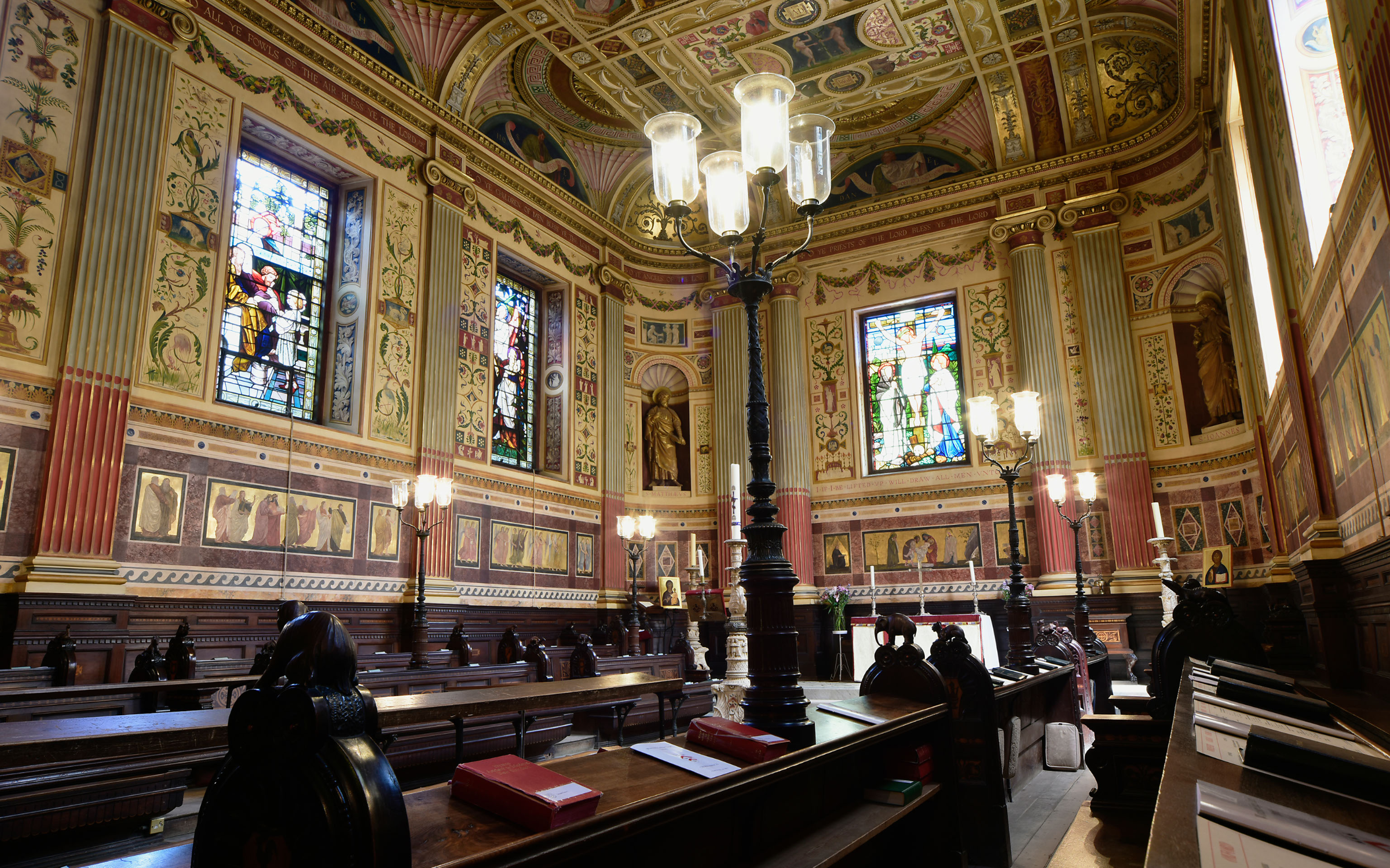 The song of Byrd echoes in the chapel at Worcester College, Oxford. Credit: Eye Ubiquitous via Getty Images