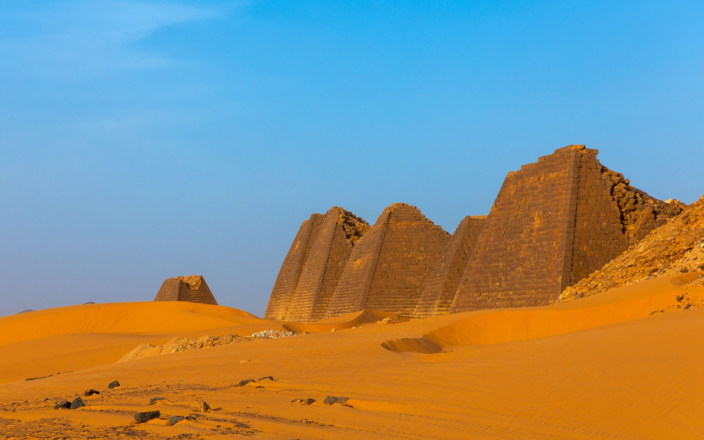 Pyramids of the ancient Kushite rulers in Sudan. Credit: Eric Lafforgue / Art in All of Us/ Corbis via Getty Images.