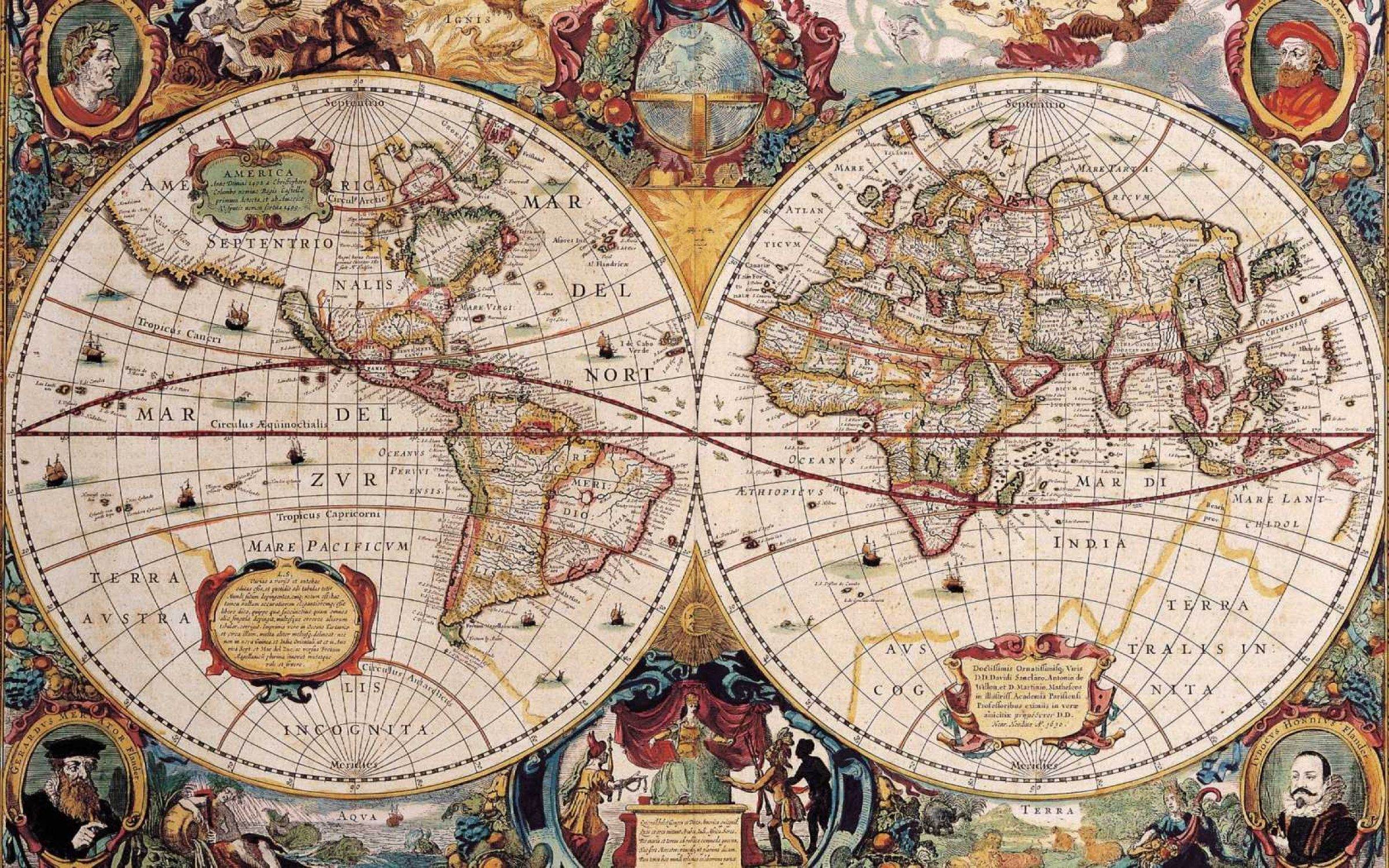 Map of the world.