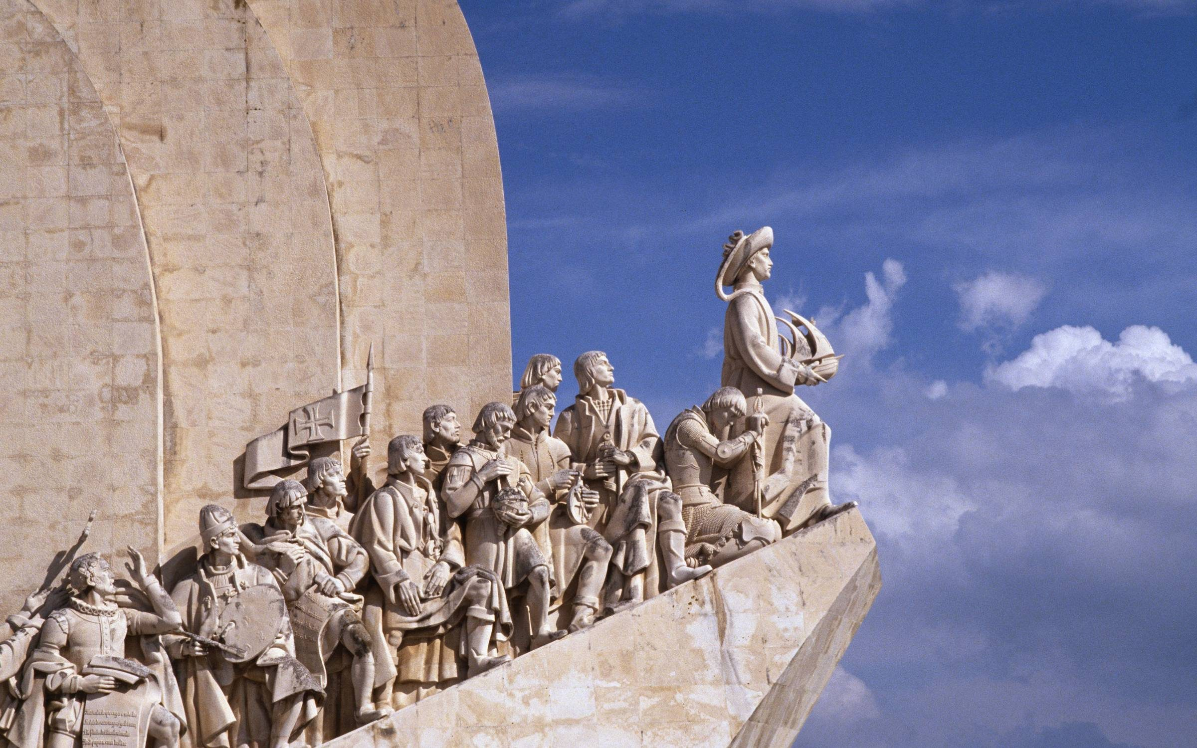 Lisbon: The Age of Discoveries Monument celebrates the Golden Age of Portuguese maritime history. Credit: Jacques Pavlovsky/Sygma via Getty Images.
