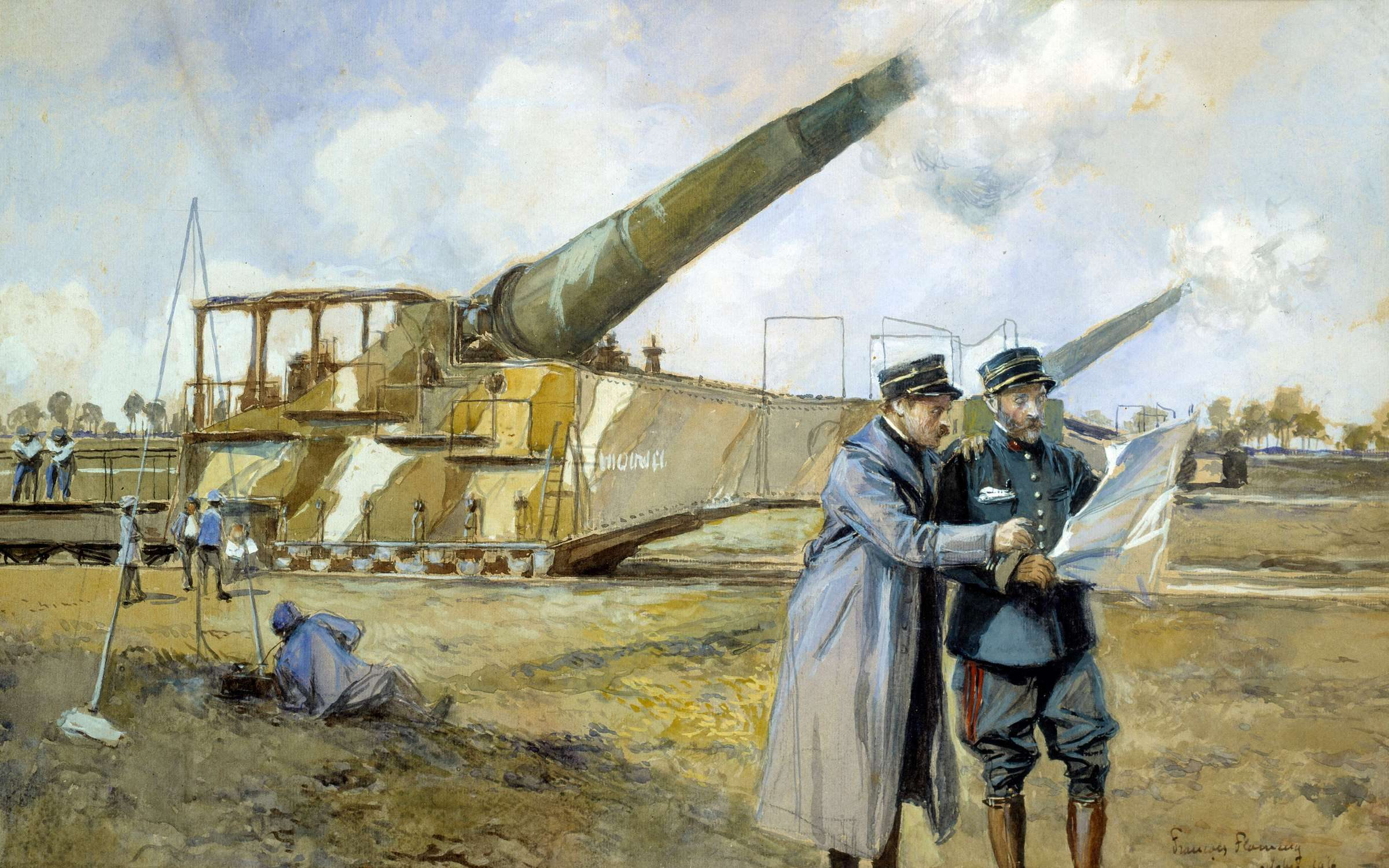 First World War Commanders looking at a battle plan. Painting by Francois Flameng (1856-1923), 1916. Army Museum, Paris. Credit: Leemage/Corbis via Getty Images