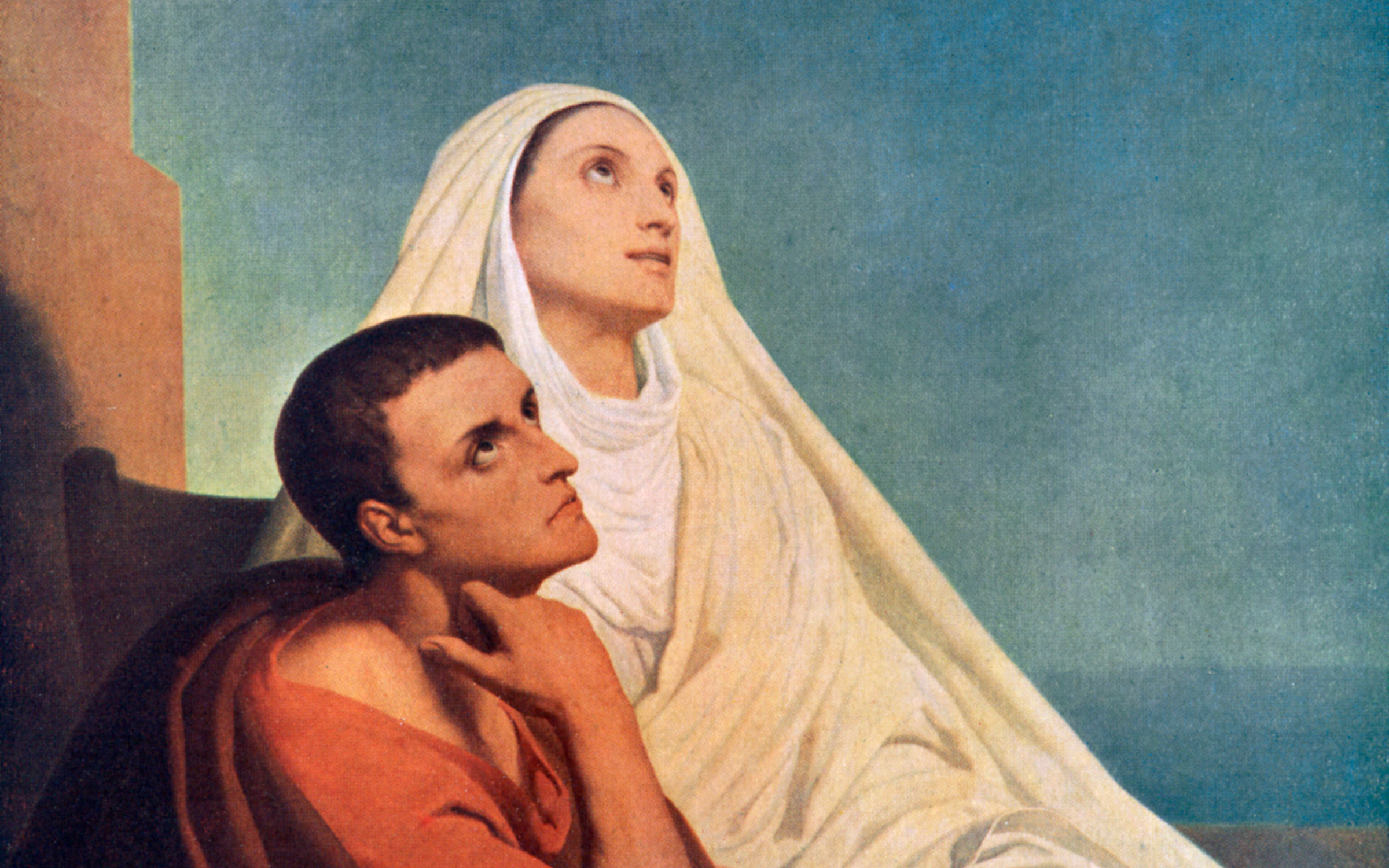 Ary Scheffer's 1855 'Saint Augustine and Saint Monica'. Credit: Waverley Book Club/The Print Collector for Getty Images.
