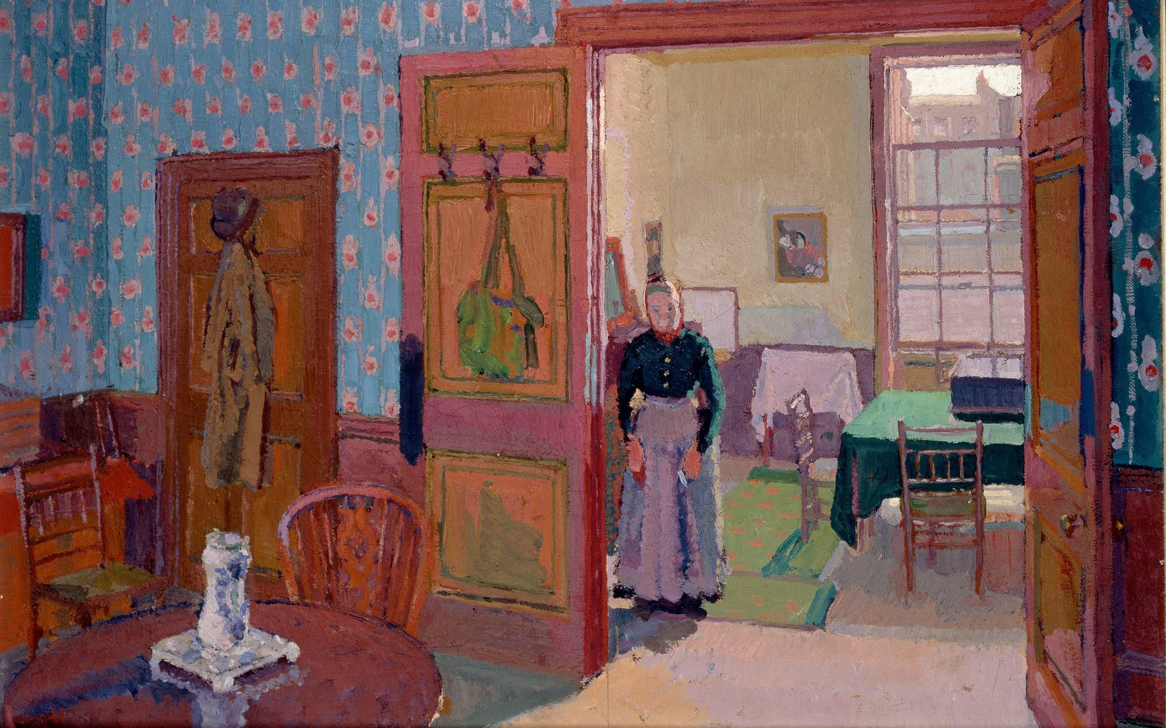 Interior With Mrs Mounter Interior with Mrs Mounter, 1916-1917. Artist Harold Gilman. (Photo by Ashmolean Museum/Heritage Images/Getty Images)