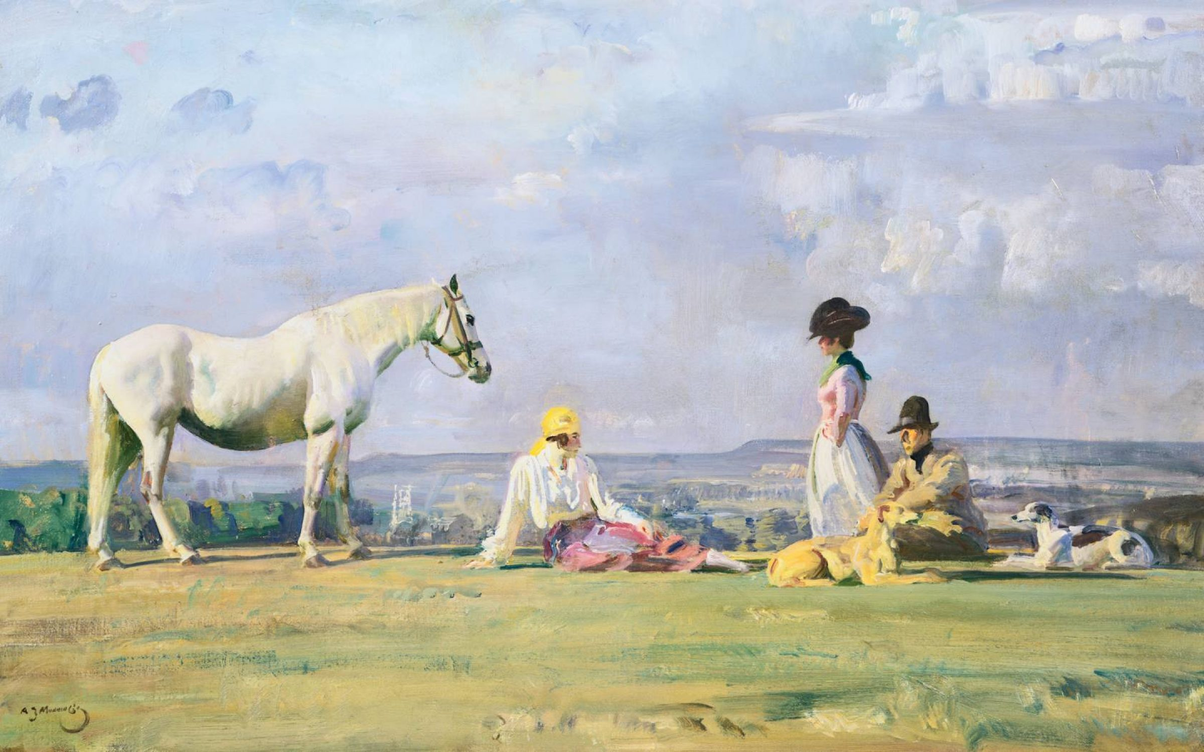 Resting on the Crest of a Hill by Alfred James Munnings.