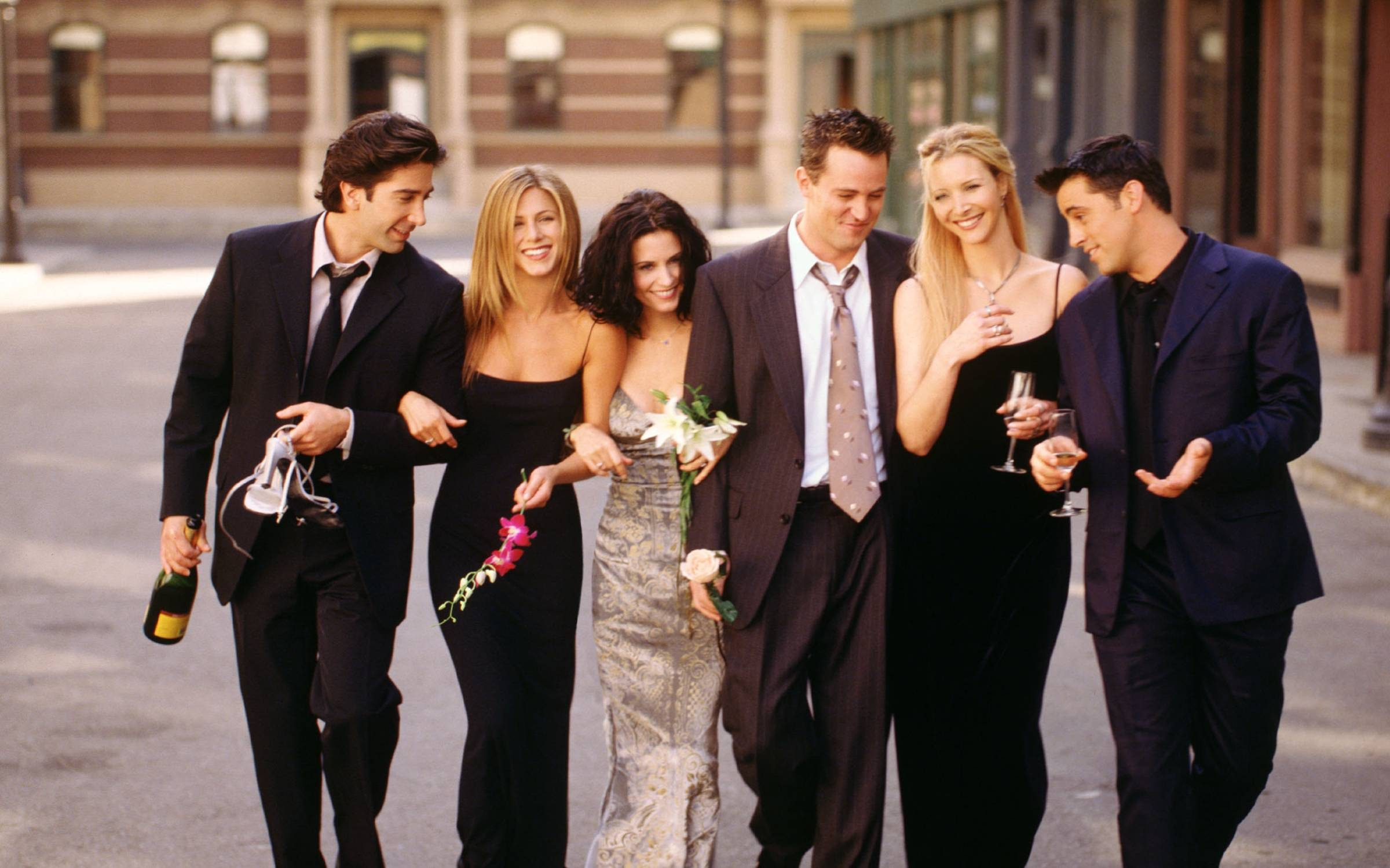 Cast members of NBC's hit comedy series Friends. Credit: Warner Bros. Television