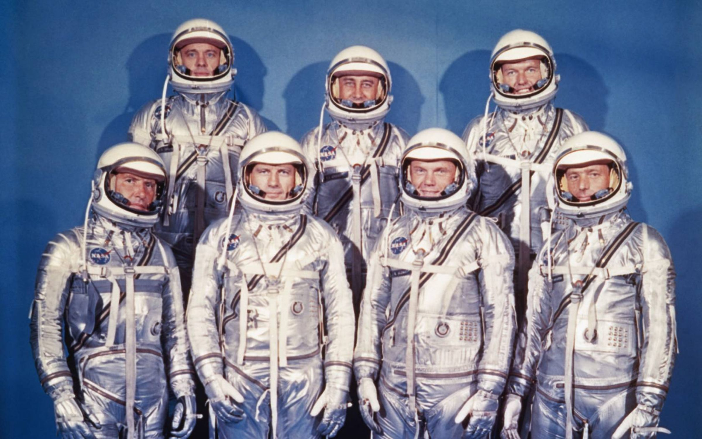The Mercury Seven immortalised in Tom Wolfe's The Right Stuff