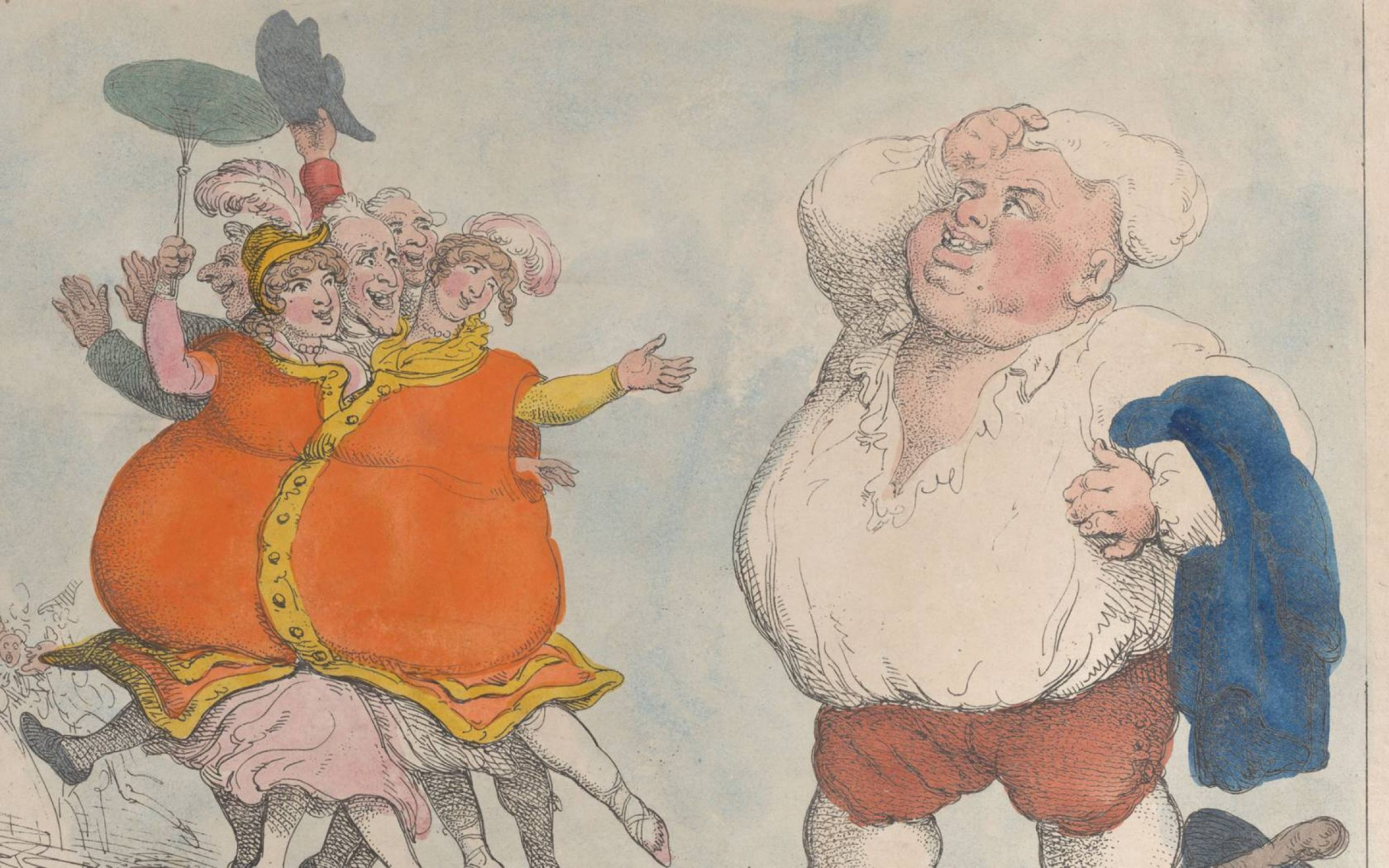 French caricature of a portly Englishman, 1812.