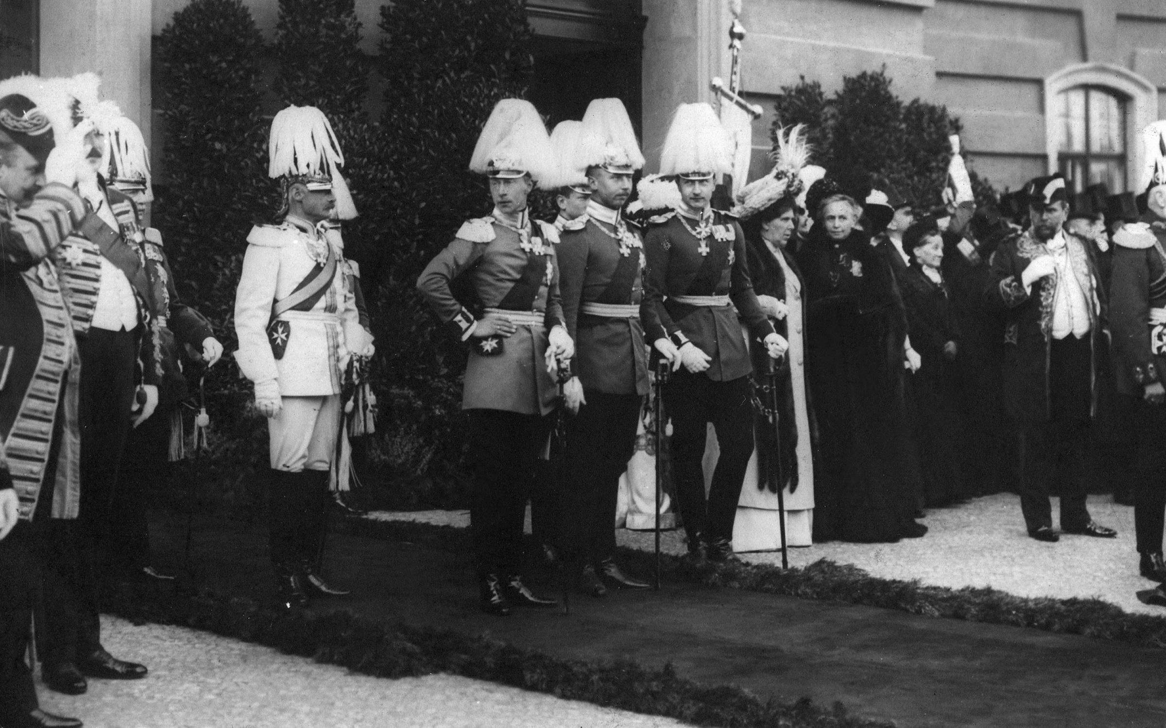 Members of the imperial family at the centenary celebrations at the University of Berlin in 1909. Credit: ullstein bild/ullstein bild via Getty Images