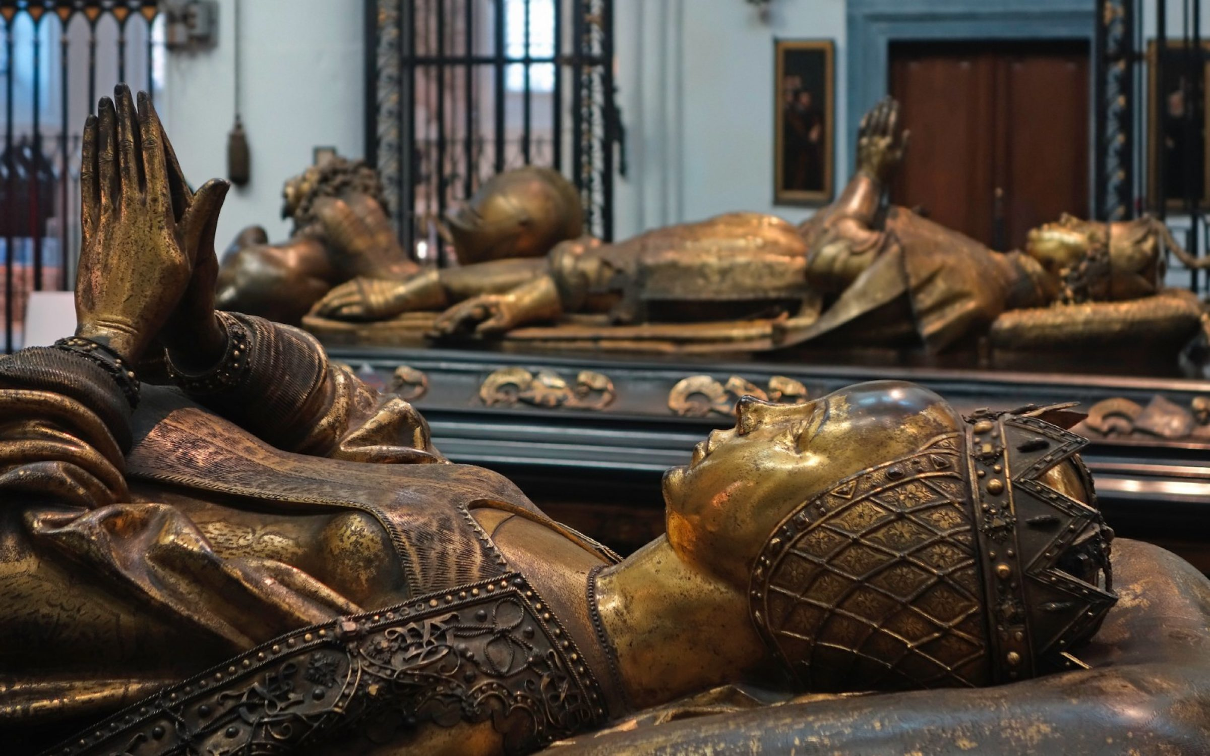 The tomb of Mary of Burgundy, beside that of her father, in the Church of Our Lady in Bruges