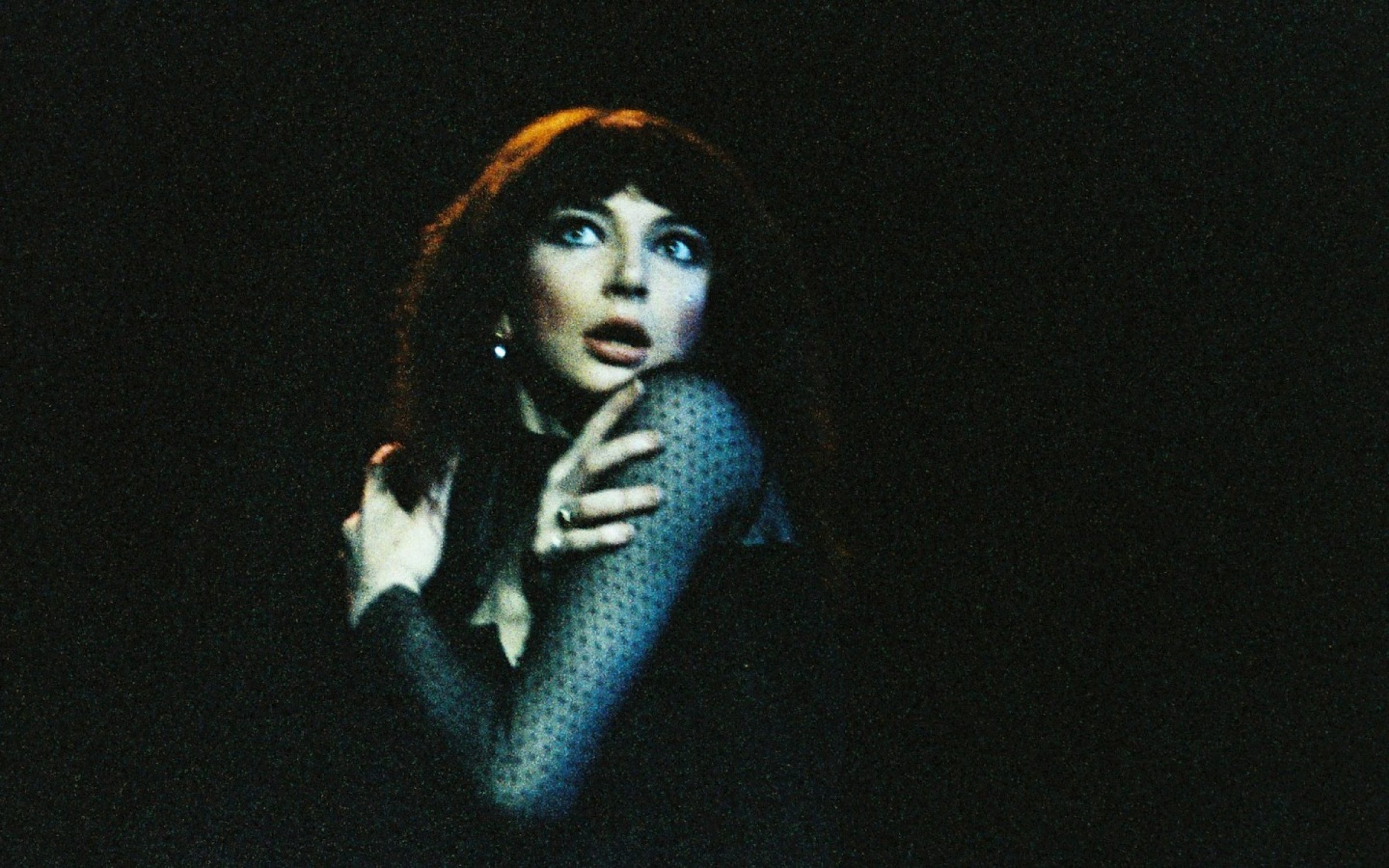 Kate Bush performs live in London, 1979. Credit: Pete Still / Getty Images.