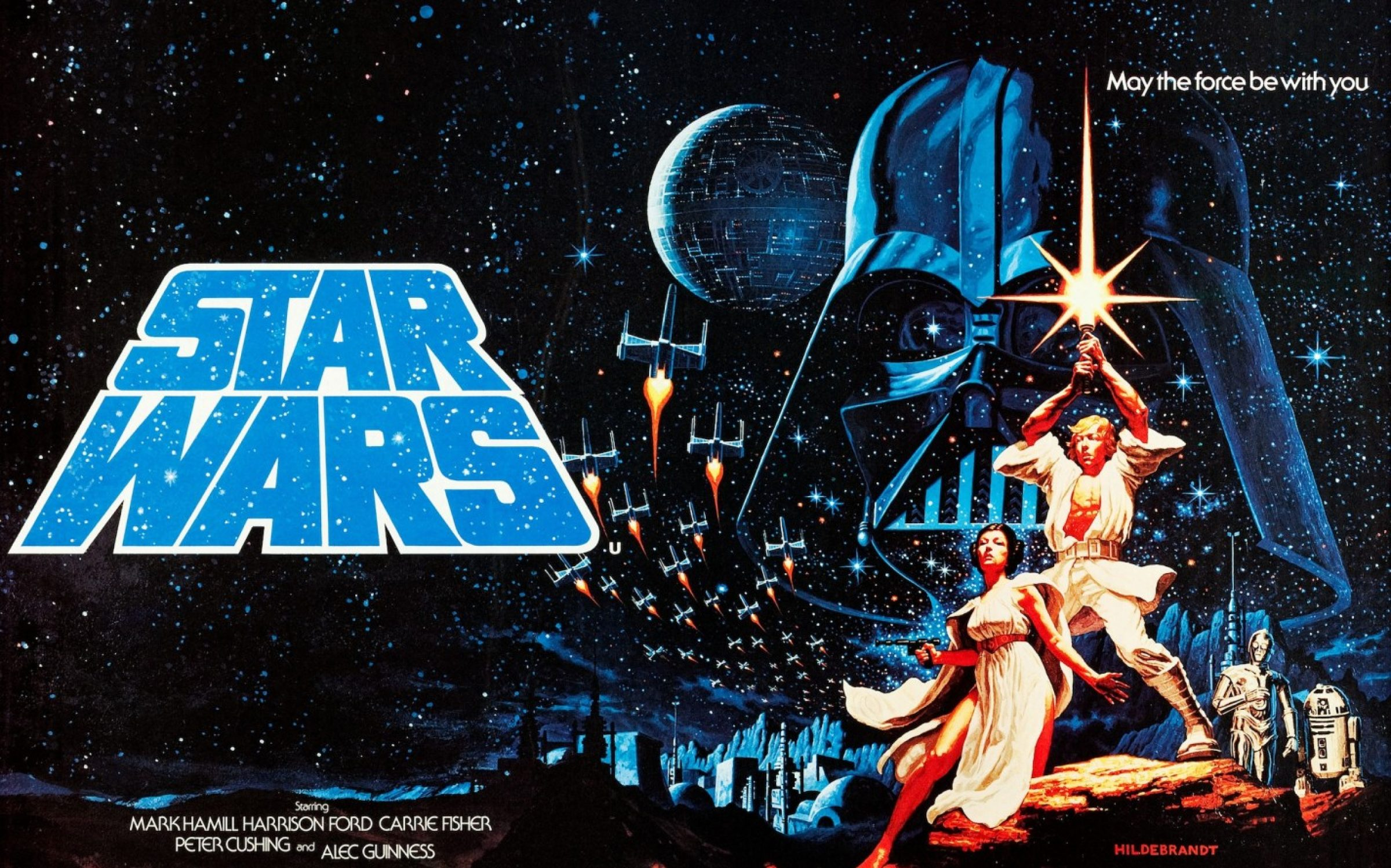 Poster art for 'Star Wars: A New Hope', 1977. Credit: LMPC via Getty Images.