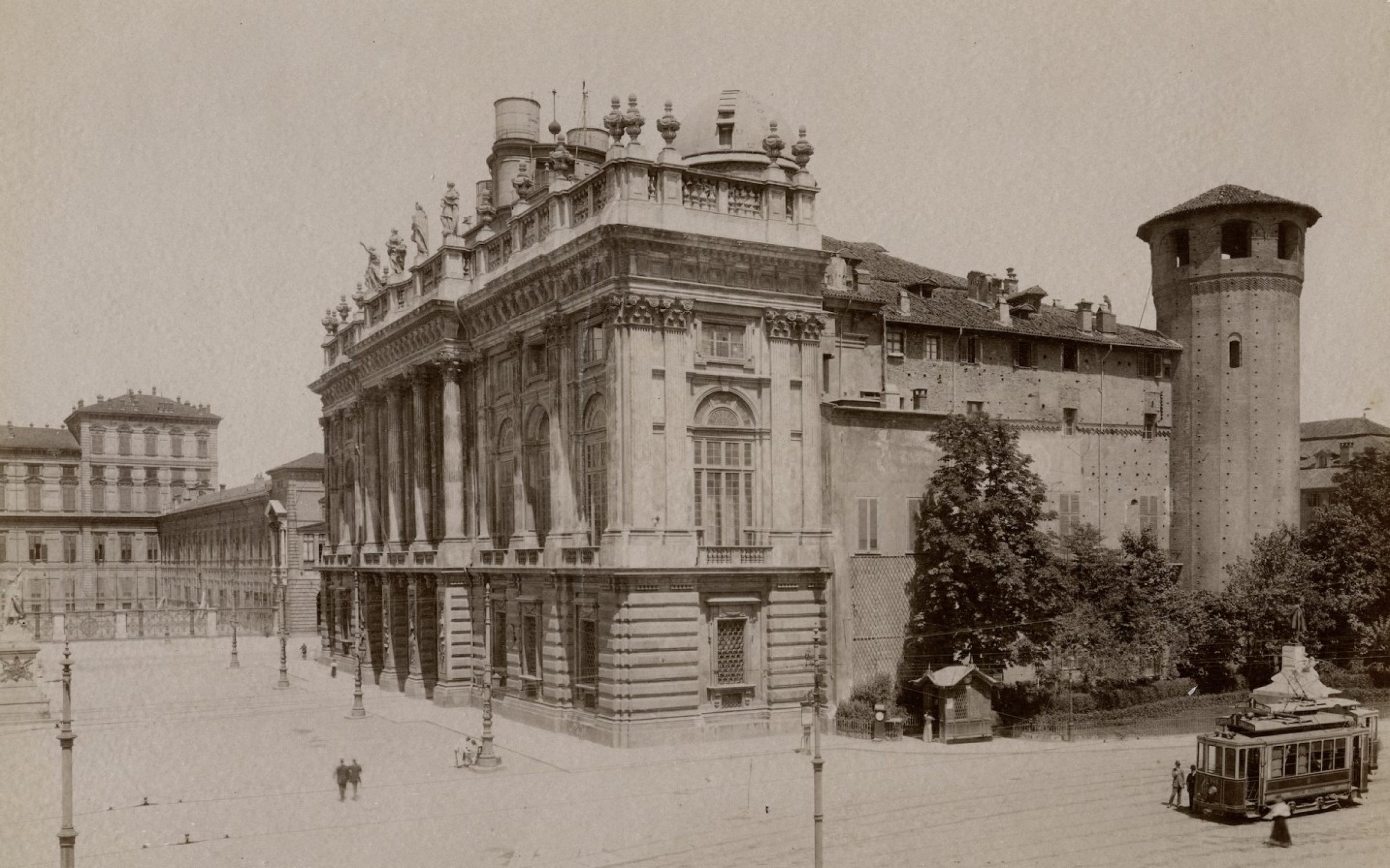 A view of the Palazzo Madama in Turin, in the early 20th century. Credit: Getty Images.