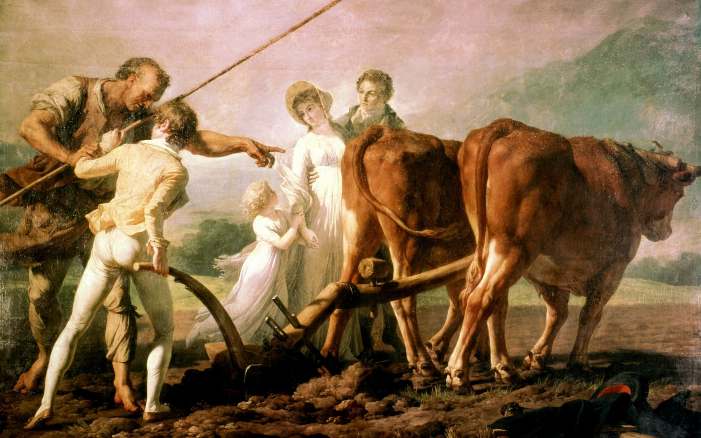 'Lesson in Ploughing', an illustration for 'Emile' by Jean-Jacques Rousseau. Education was regarded by Rousseau as the source of moral corruption. Credit: Photo12 / Universal Images Group / Getty Images.