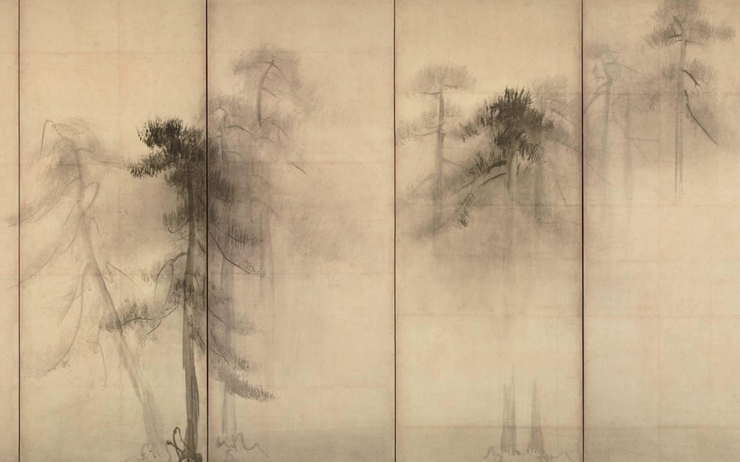 Pine Trees by the painter Hasegawa Tohaku (1539–1610). Credit: Getty Images.