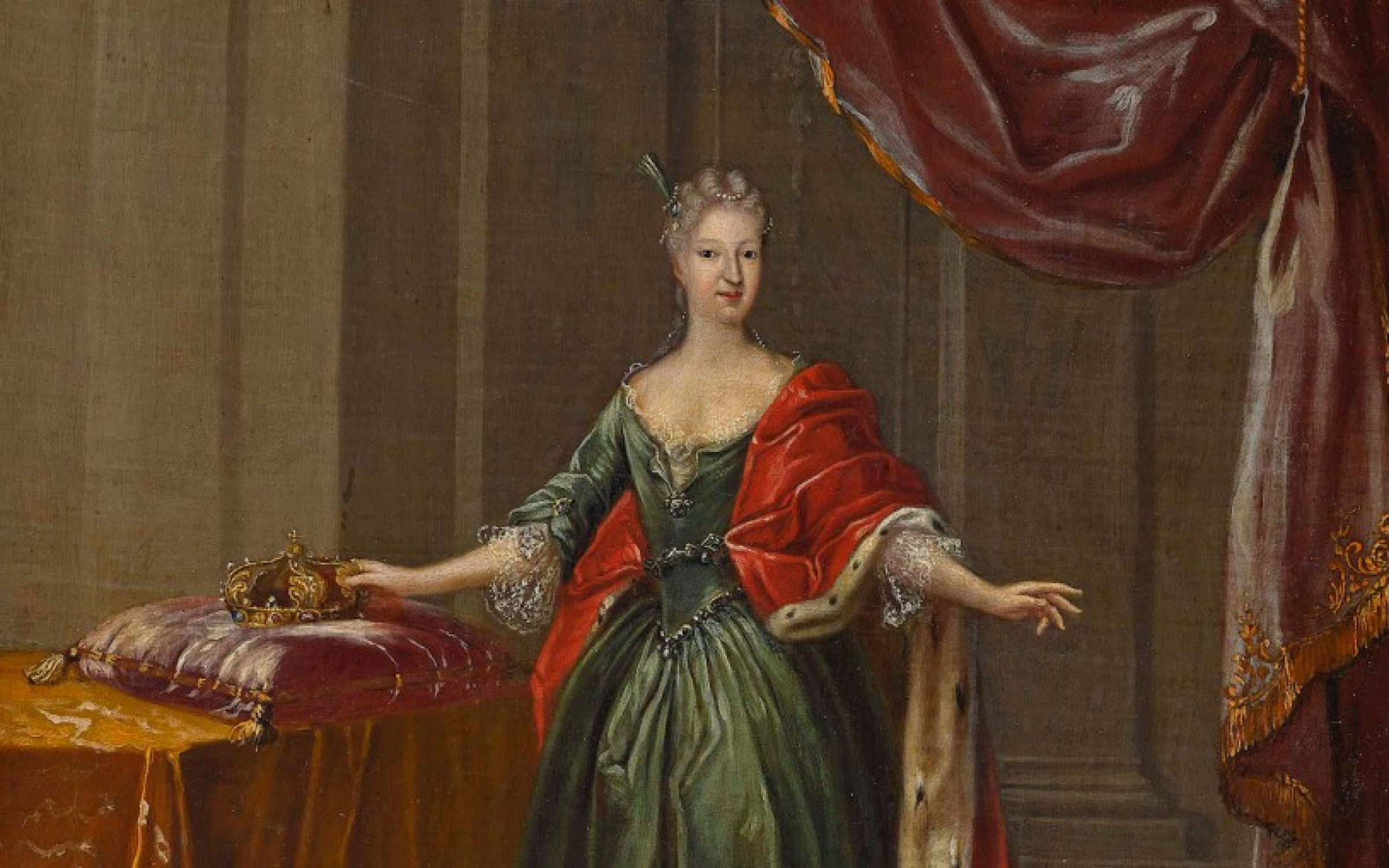 An eighteenth-century portrait of Maria Antonia of Bavaria, Electress of Saxony, by Peter Jacob Horemans. Credit: Heritage Images / Getty Images.