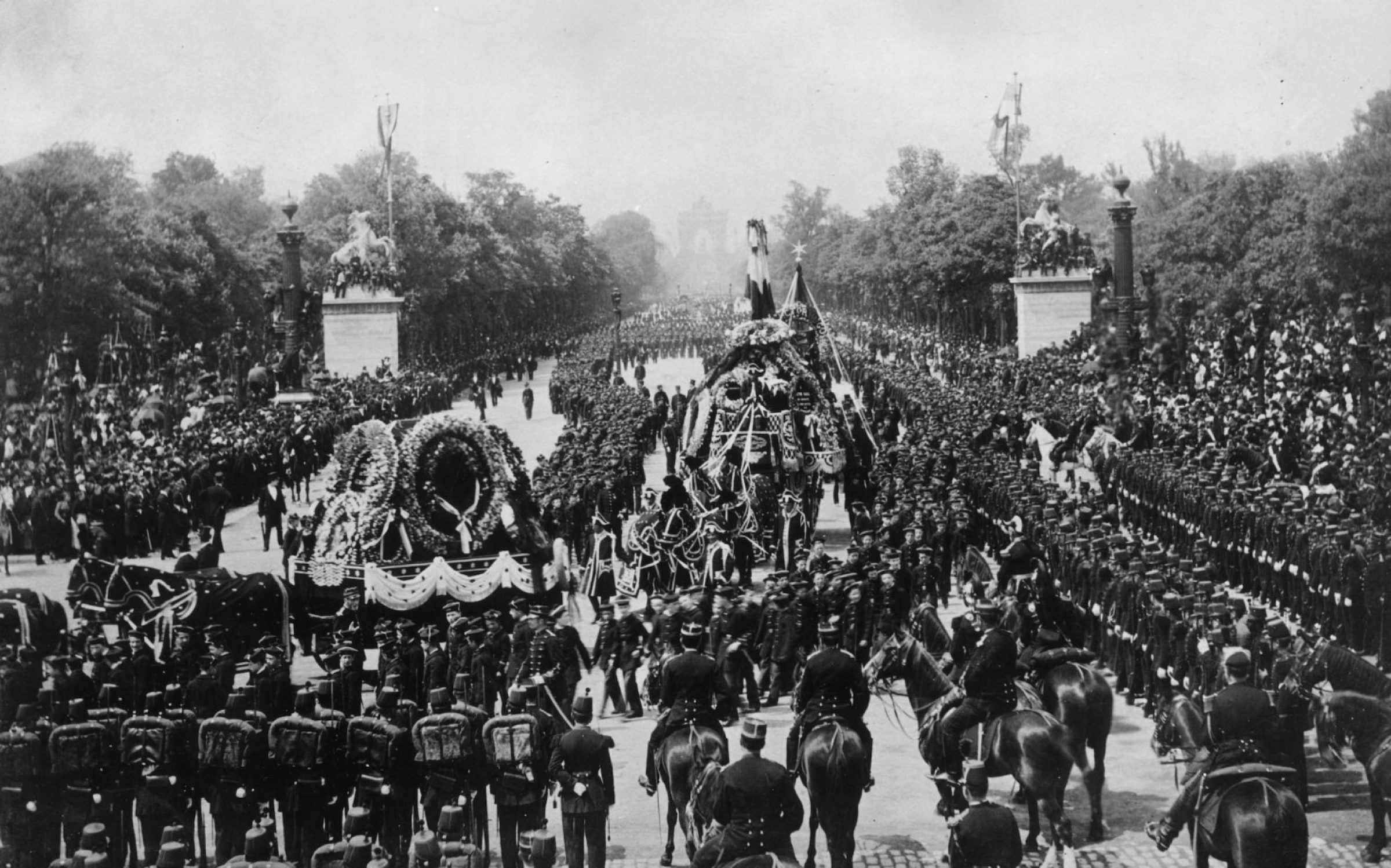 The public funeral of Victor Hugo in Paris, 1885. Credit: Rischgitz / Getty Images.