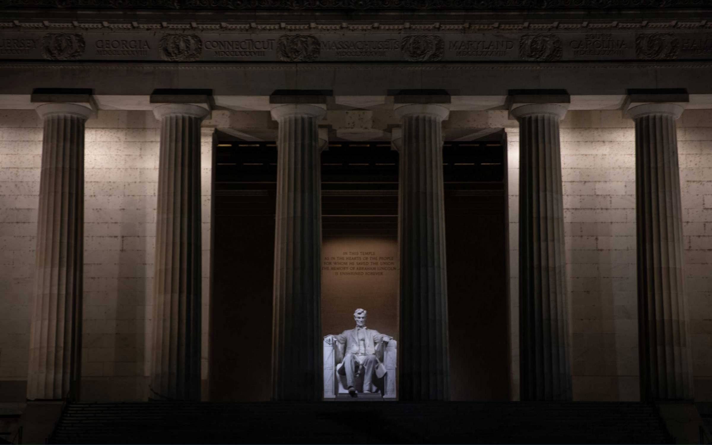 The Lincoln Memorial, Washington D.C. Credit: Getty Images.