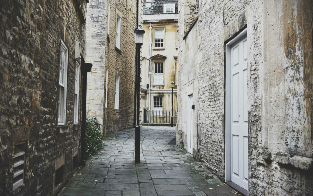 A street in London's old town.