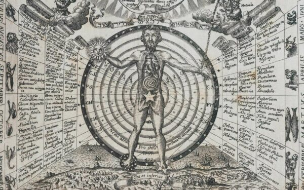 This chart is taken from the book 'Ars Magna Lucis Et Umbrae' which was published in 1646 by the Jesuit scientist and inventor, Athanasius Kircher (1602-1680).